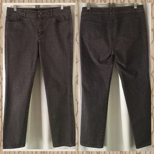Lafayette 148 NY brown cropped skinny jean size 6
